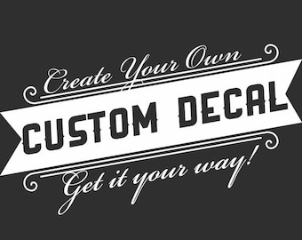 Custom Window Decal Etsy - Custom made car stickers