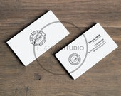 BUSINESS CARD MOCKUP / 2 Styles Landscape Orientation / Flat Lay Minimalist Styled Stock Photo / #124
