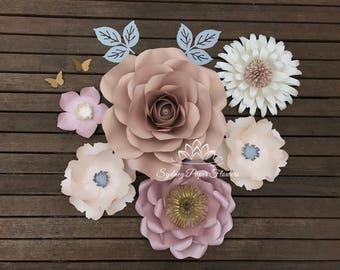 ISLA DREAM paper flower backdrop/Paper flower wall/Nursery decor/Wedding Backdrop/Holy communion/Bridal Baby shower/Sweet table/Christening
