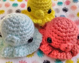 cute kawaii crochet squid octopus