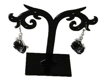Earrings acrylic black Chair