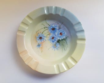 Hand Painted Porcelain Ashtray