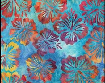 Artisan Batik - HIBISCUS FLOWER ab-15501-263 Rainbow