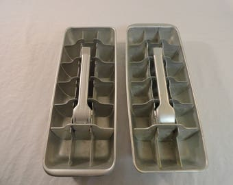 Pair of Vintage Ice Cube Trays