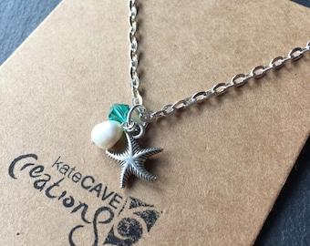 Starfish necklace, Beach gift, Beach jewellery, Stocking Filler
