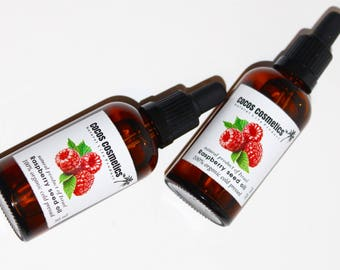 Mothers Day Gift / Red Raspberry seed oil / Pure unrefined cold pressed raspberry seed oil, anti-aging, 30-50 SPF sun protection Uva Uvb
