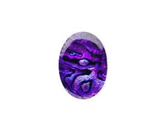 Purple Paua Cabochon, Paua Shell, Purple Cabochon, Oval 18x13mm, 1 Each, D1006