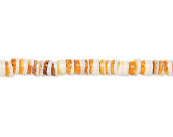 """Spiney Oyster Shells, Heishi Beads, Orange Shell Beads, 4x1mm to 4x3mm, 16"""" Strand, D1037"""