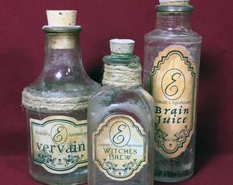 Apothecary Bottles Group G