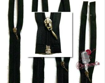 Black, fermetures éclair détachable,  de 23cm à 66cm, ( 9po - 26po), curseur argent, no7, tissu en nylon, ZG3
