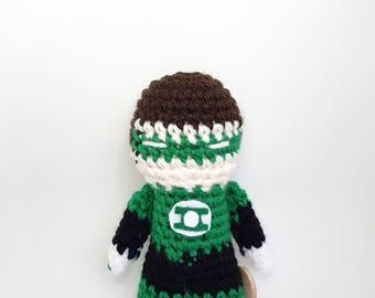 Green Lantern Justice League amigurumi