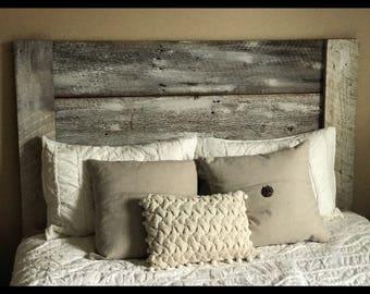 Barnwood Headboard Whitewash. Queen Headboard. King Headboard. Rustic  Bedroom Decor. Country Decor