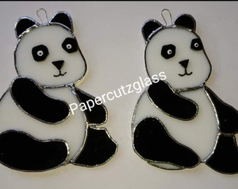 Stained glass panda
