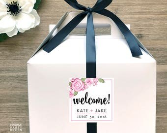 10 - Wedding Guest Welcome Box Set / Out of Town Guest Favor Boxes / Destination Wedding Welcome Boxes Set of 10- GBW-29