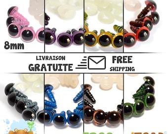 Amigurumi Crochet - Yeux de sécurité de 8mm couleur