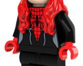 Spider-Girl v2. Custom Minifigure 100% LEGO Compatible! Marvel Comics Spider man Movie Character