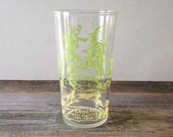 vintage Hazel Atlas glass/Davy Crockett jelly glass