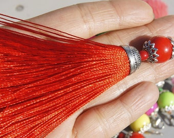 CRAFT CREATION! 1 TASSEL COLORED TASSEL CM ROUGE11 POLYESTER