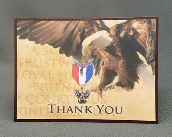 Handmade Eagle Scout Thank You Card