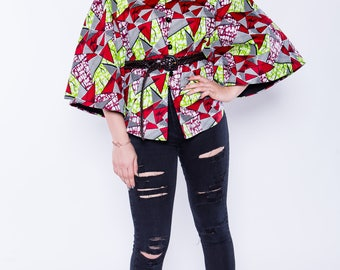 Classy African Print Poncho/cape