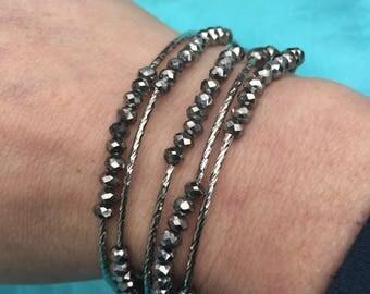 Silver Necklace/Wrap bracelet