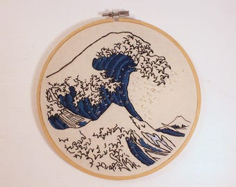 The Great Wave Embroidery