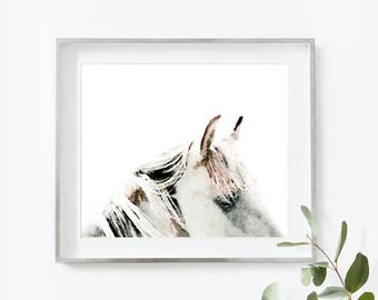 Horse Print, Horse Art Print, Horse Printable Art, Horse Wall Art, Watercolor Print, Horse Art, Instant Download, Modern Farmhouse