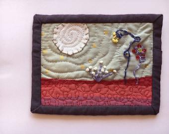 Moonlit Garden Fabric Post card