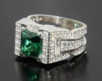 Signet ring, Men ring silver, Gypsy ring, Big ring men, Sparkle men ring, Men gypsy ring, Signet men ring, SIlver signet ring