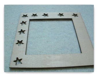 Lightweight wooden decor frame