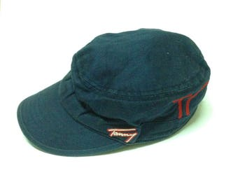 Tommy Hilfiger Spellout Velcro Navy Baseball Cap OSFA