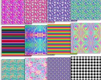 Siser Easyweed Patterned Heat Transfer Vinyl Bundle - 12 Assorted Colors