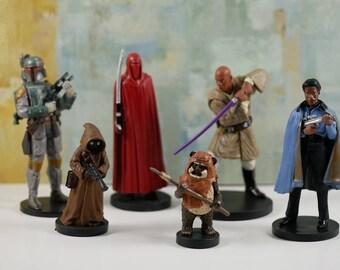 Star Wars, Star Wars cake topper, Star Wars party theme, Star Wars cake, set of 6 pc Star Wars cake decoration