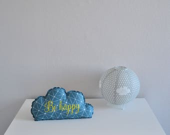 Decorative blue and yellow cotton cloud