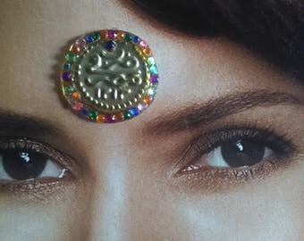 Gypsy Coin Belly Dance Costume Forehead Bindi | Festival Face Gem | Third Eye Sticker | Gift for her