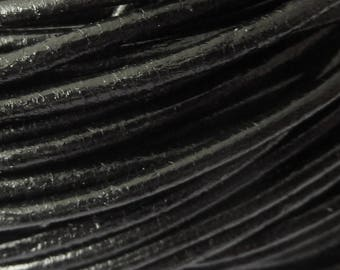leather cord 2 mm black PR0600 100 m
