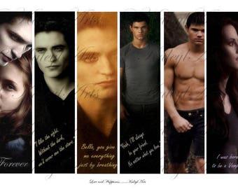 Twilight saga, printable templates, Din A4, Twihards, printable, cards,