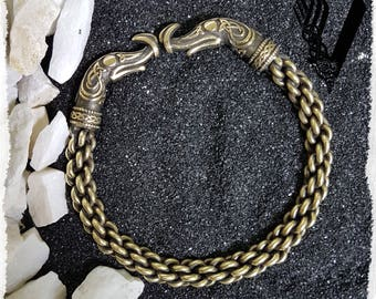 Ragnar Vikings Bracelet Braided Bronze Norse Jewelry Bangle Viking arm ring Charm Twisted Torc Bracelet