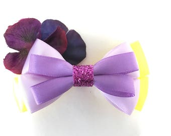 Flower, hair bow, hair accessory, violet, garden, Disney, hair bows, hair accessories, satin, women, girls, gift, Easter, flowers