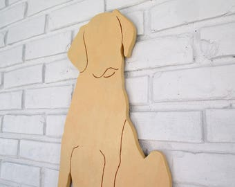 Yellow Lab Rustic Wooden Home Decor Yellow Labrador Sign Dog Wall Art #5009