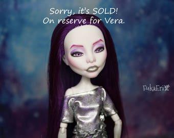 ON RESERVE for Vera! Monster High Custom Repaint Art doll OOAK Spectra Vondergeist