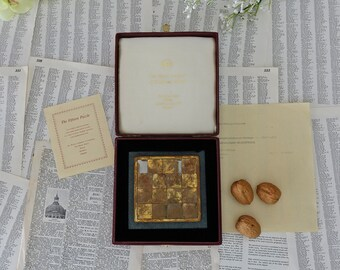 Vintage brass 15 puzzle The fifteen Puzzle The Henley Company of Craftsmen Limited Brass -Green Slate Stone Collectible Toy Puzzle