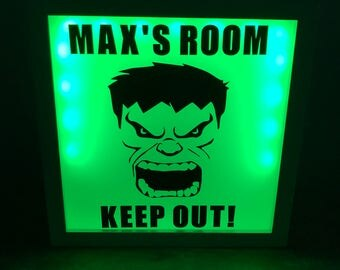 personalised Hulk Keep Out light up box
