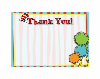 Dr. Seuss Thank You Card
