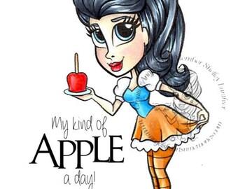 Digital Stamp, Digi stamp, Digi, Digistamp, Halloween Digi, Candy Apple, Candy Apple girl, Candy Apple Angela Digi
