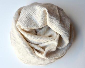 LINEN TURKISH TOWEL -  Waffle Towel / Linen Bath Towel /Turkish Beach Towel / Linen Towel / Linen  Peshtemal/Soft Linen  Towel/ Ecru