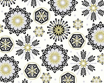 Lets Celebrate, Midnight Crystal Cream, Celebration, Medallion Fabric, Happy Birthday Fabric, Party Fabric, Birthday Fabric, by Kanvas, 8382