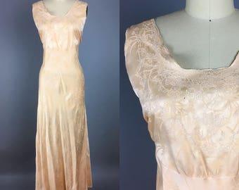 Volup / plus size handsewn 1930s silk slip