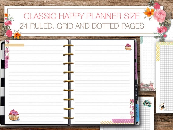 Printable Weekly Planner Inserts for Midori Traveler's ...