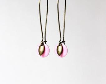 Pink Sequin enamel earrings